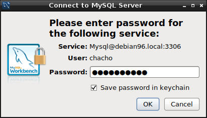 mysql workbench password debian