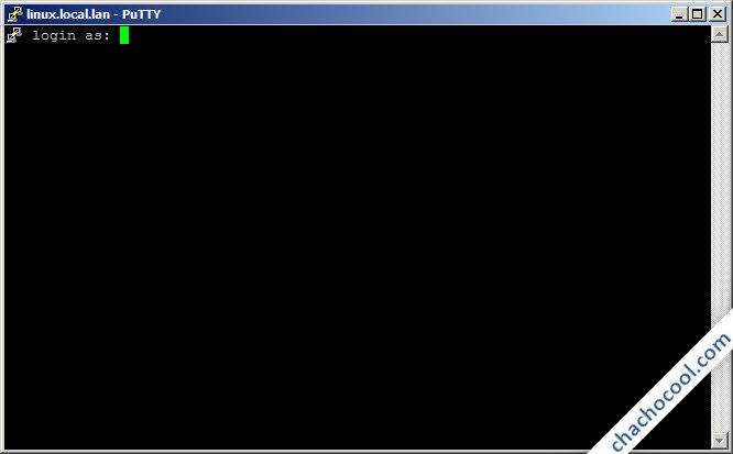 Pantalla de login en el sistema remoto