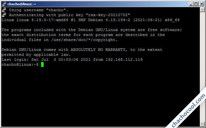 Acceso al servidor mediante clave RSA