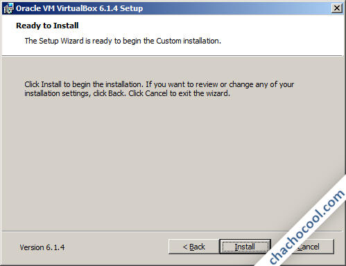 VirtualBox listo para instalar