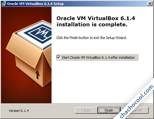 VirtualBox, instalación finalizada
