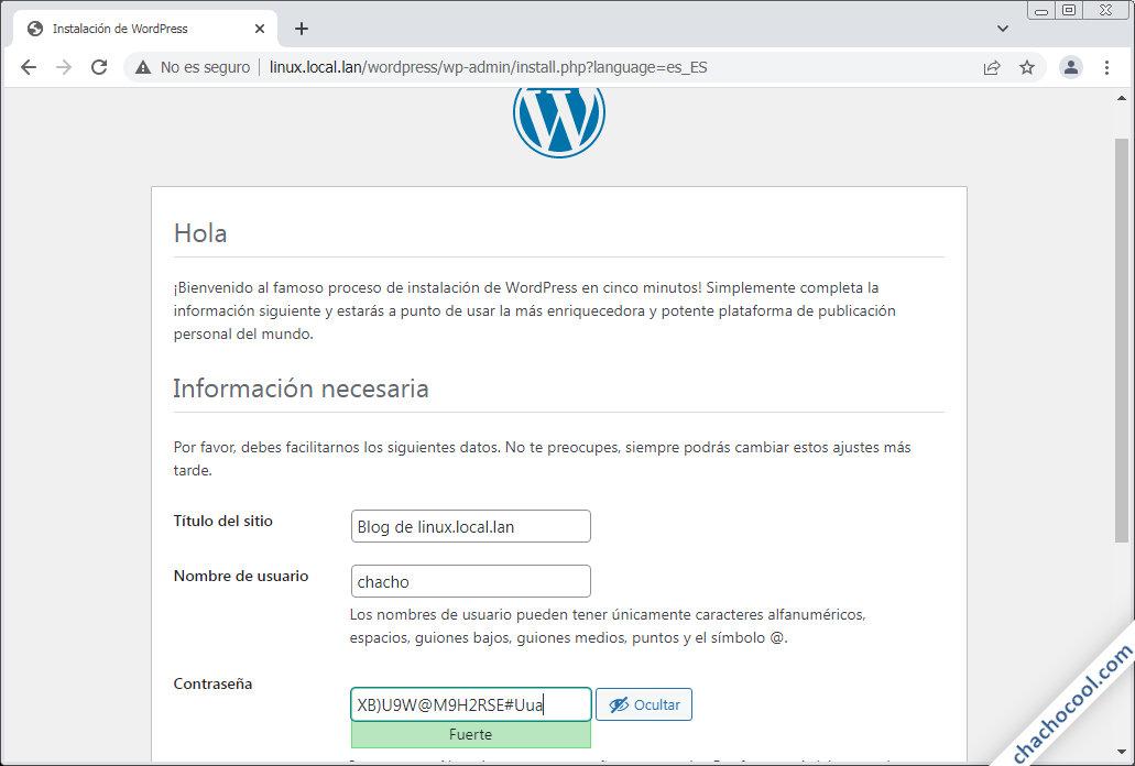 instalando wordpress en Linux