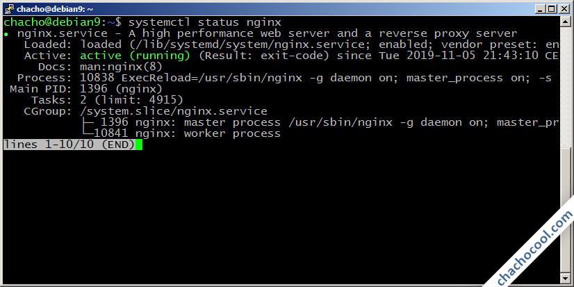 como instalar y configurar nginx en debian 9 stretch