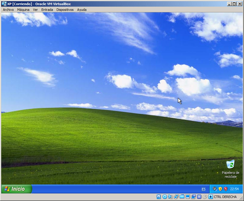 maquina virtual con windows xp