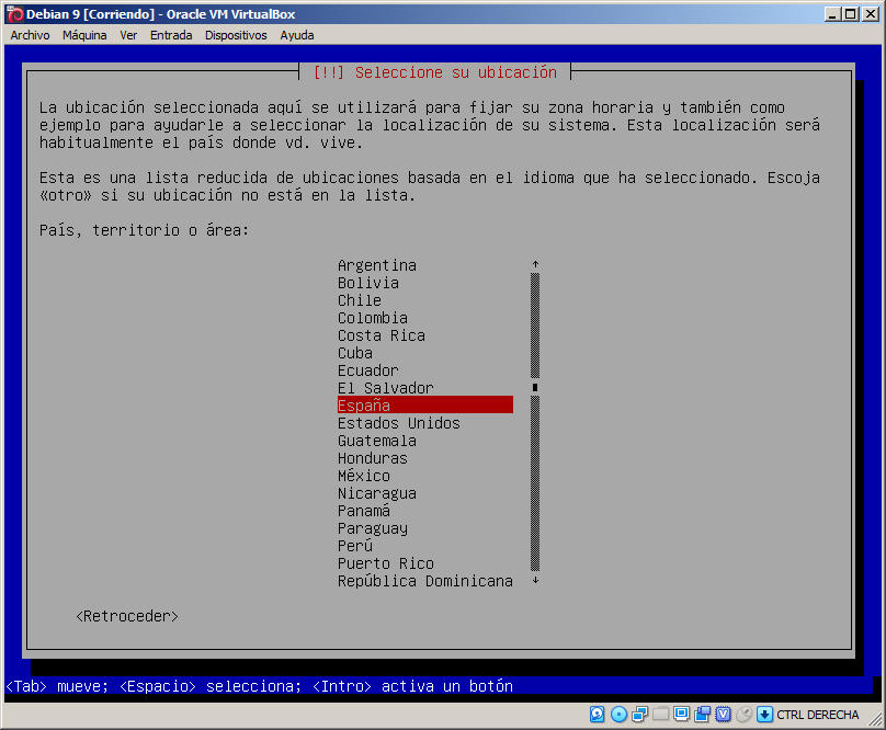 instalacion de debian 9 stretch en virtualbox