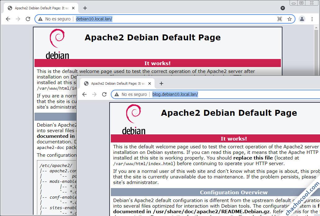 servidores virtuales (virtualhost) de apache en debian 10