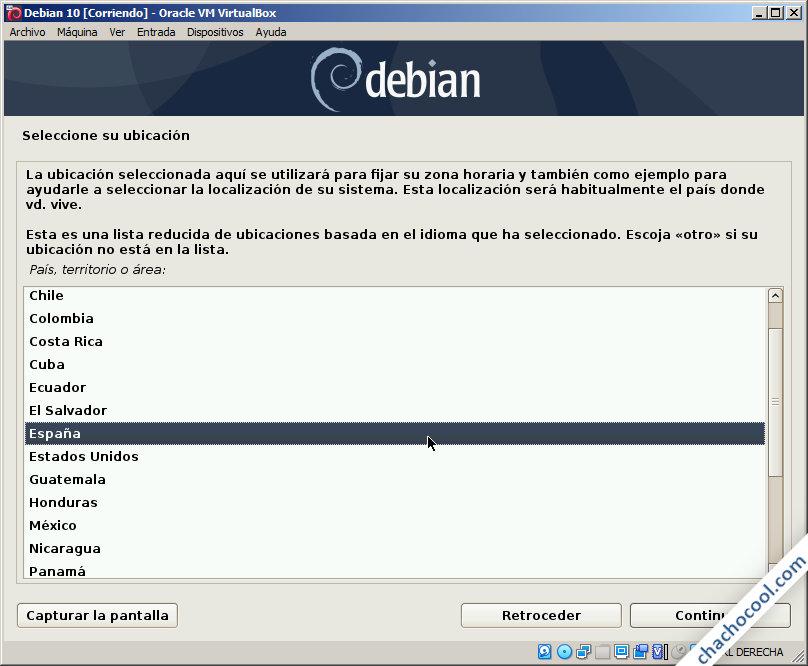 instalacion de debian 10 buster en virtualbox