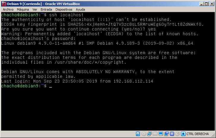instalar ssh en debian 9 stretch