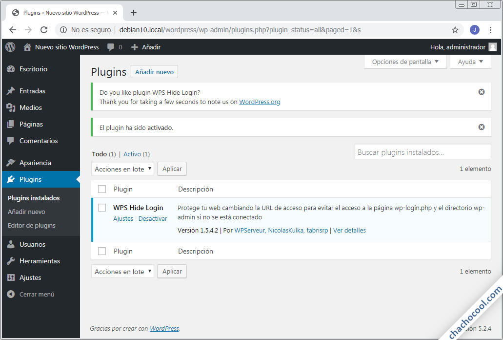 cambiar la pagina de login de wordpress