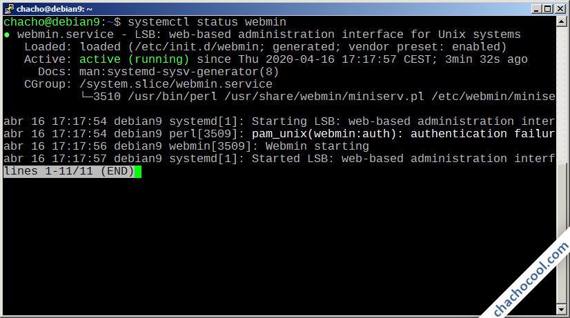 como instalar webmin en debian 9 stretch