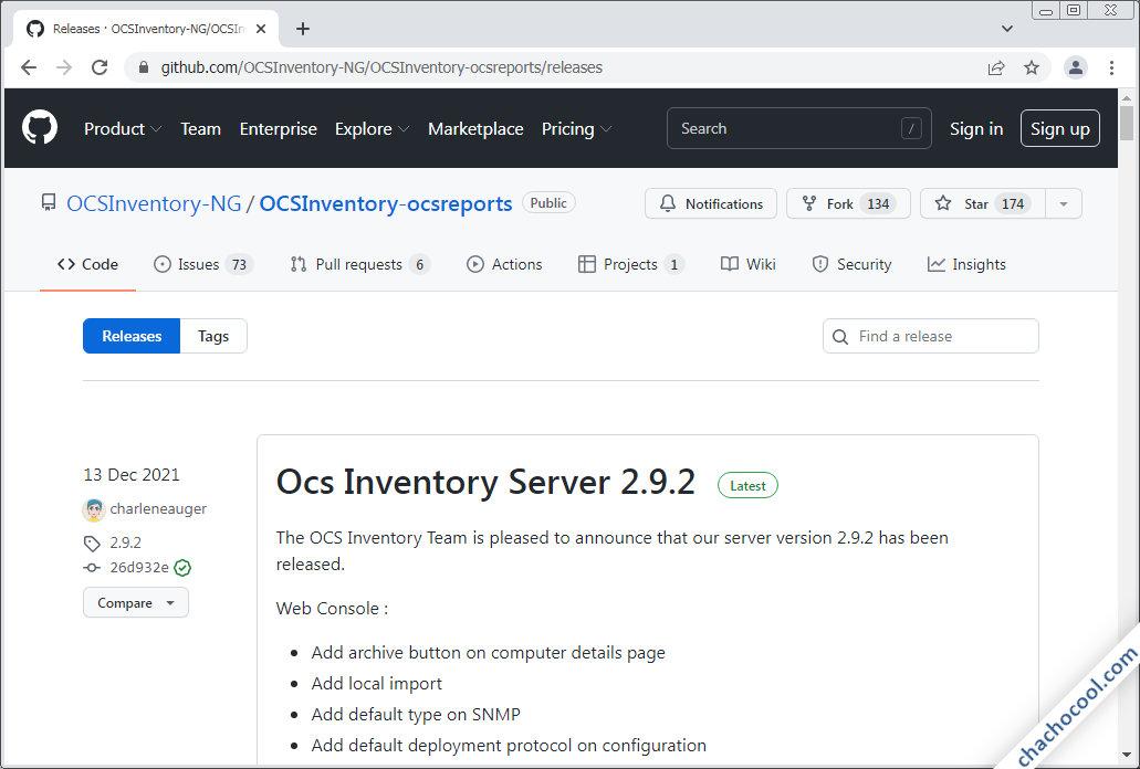 como descargar ocs inventory ng server para debian 9 stretch