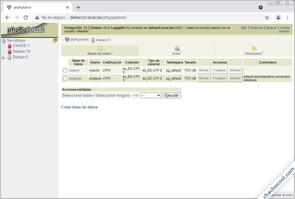 configurar phppgadmin en debian 10 buster