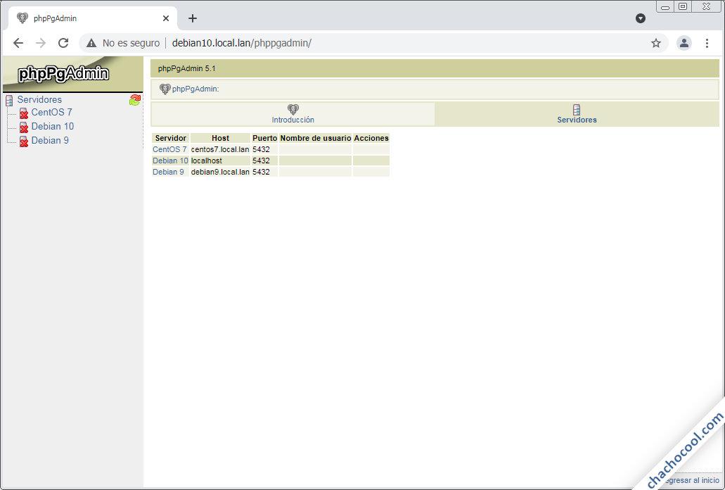 como configurar phppgadmin en debian 10 buster