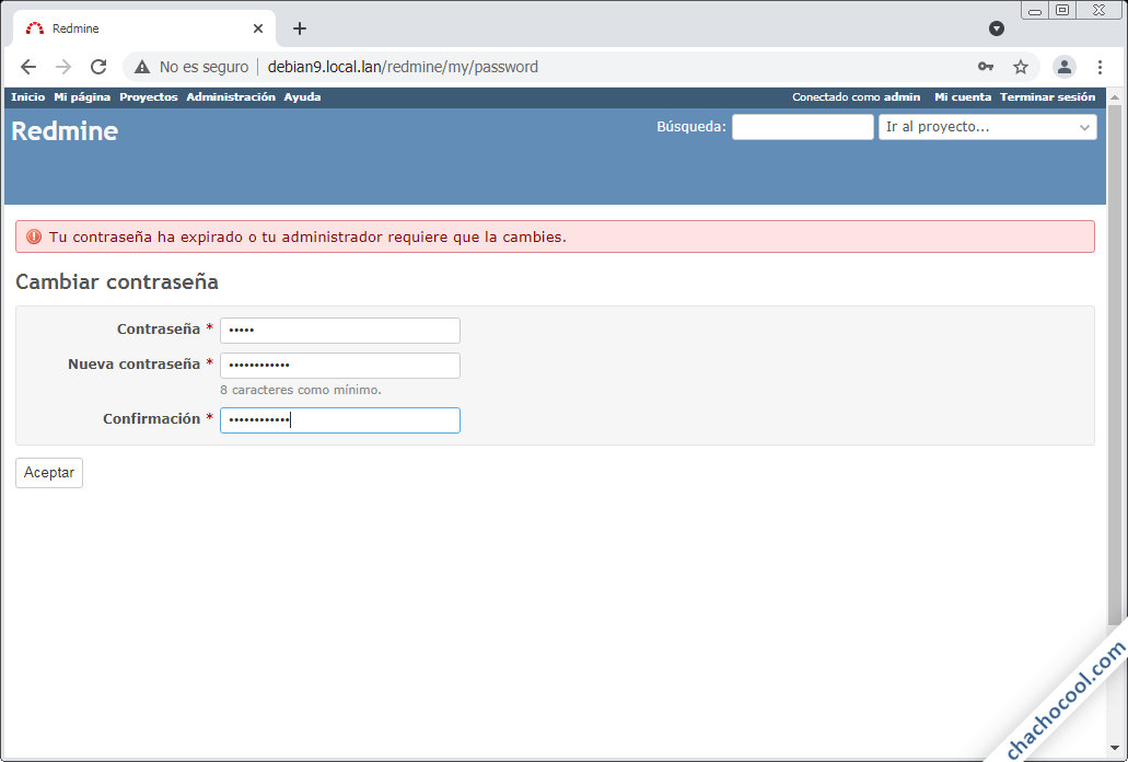 redmine en debian 9 stretch