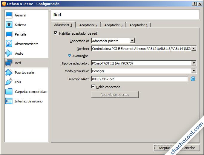 instalar debian 8 en virtualbox