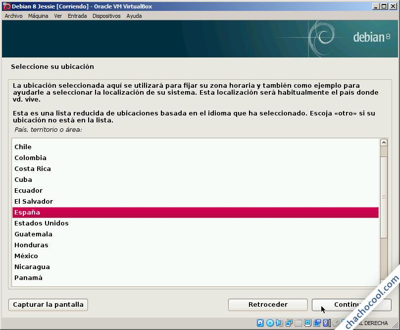 instalar debian 8 jessie en virtualbox