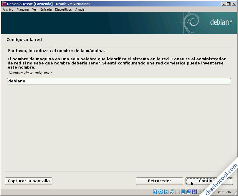 instalando debian 8 jessie en virtualbox