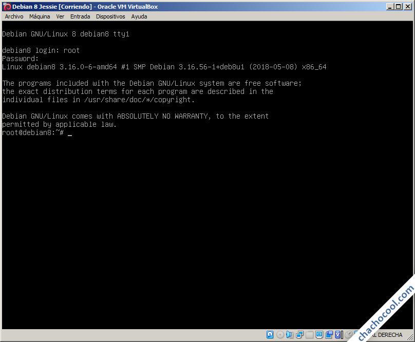 como instalar debian 8 en virtualbox