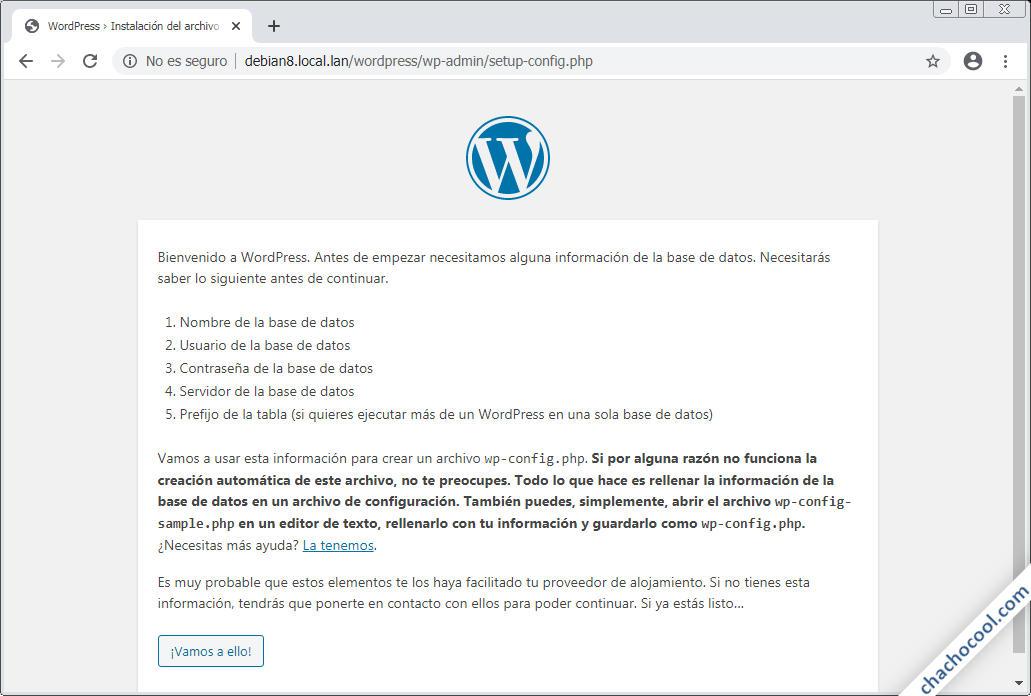 como instalar WordPress en Debian 8