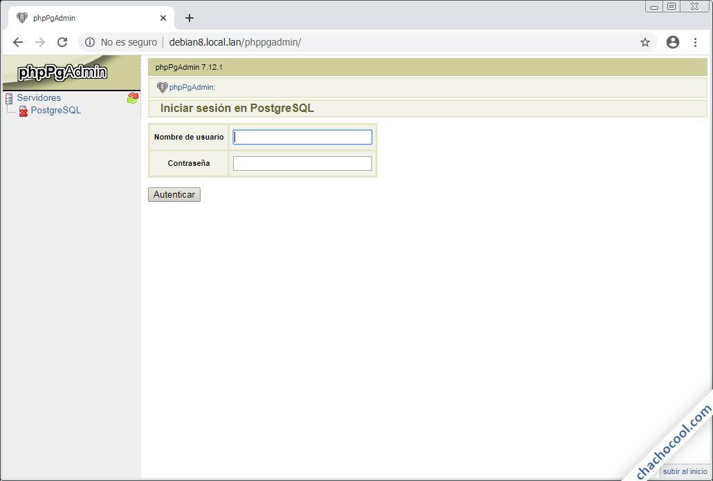 instalar phppgadmin en debian 8 jessie