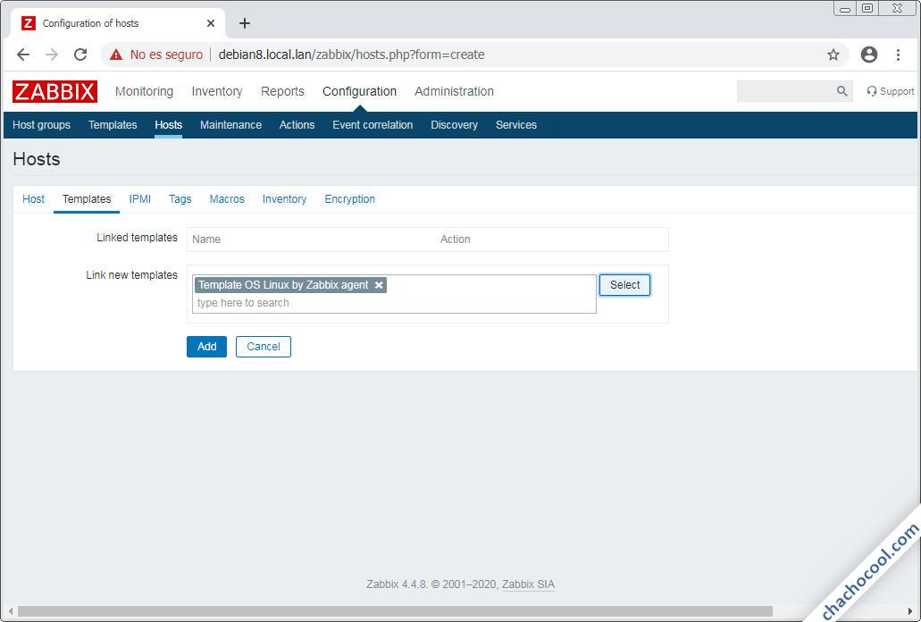 configurar zabbix server en debian 8 jessie