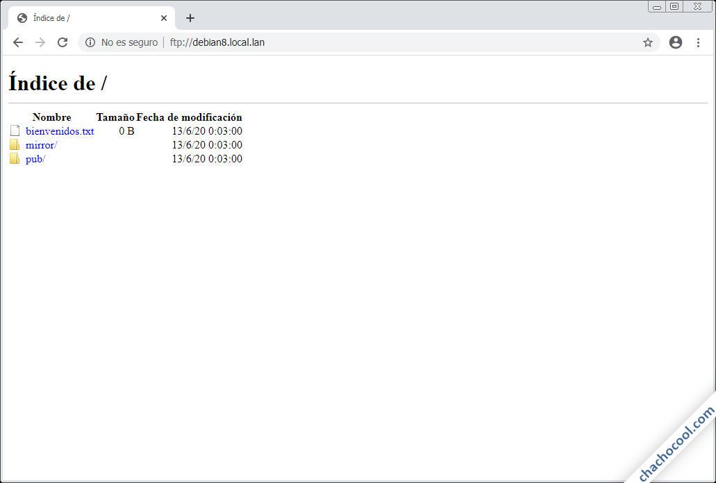 como instalar y configurar un servidor ftp en debian 8 jessie