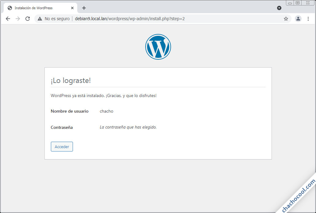 instalando wordpress en debian 9 stretch