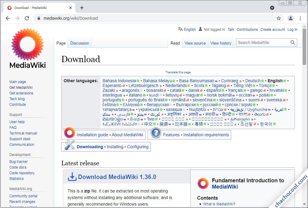 como descargar mediawiki para debian 10 buster