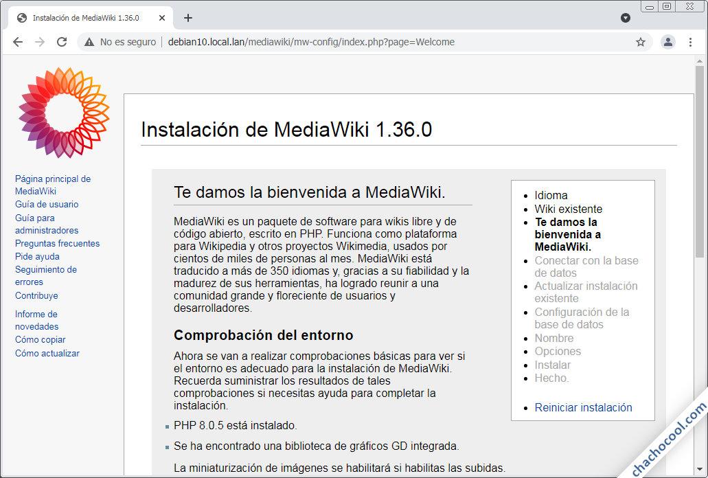 instalacion de mediawiki en debian 10 buster
