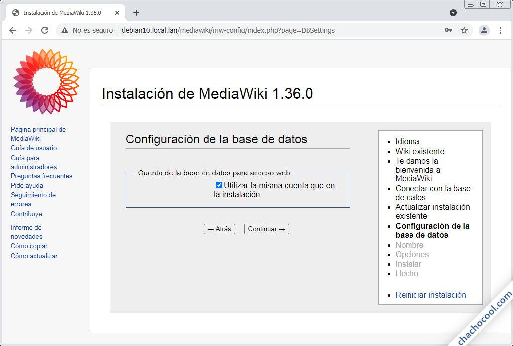 instalador de mediawiki en debian 10 buster