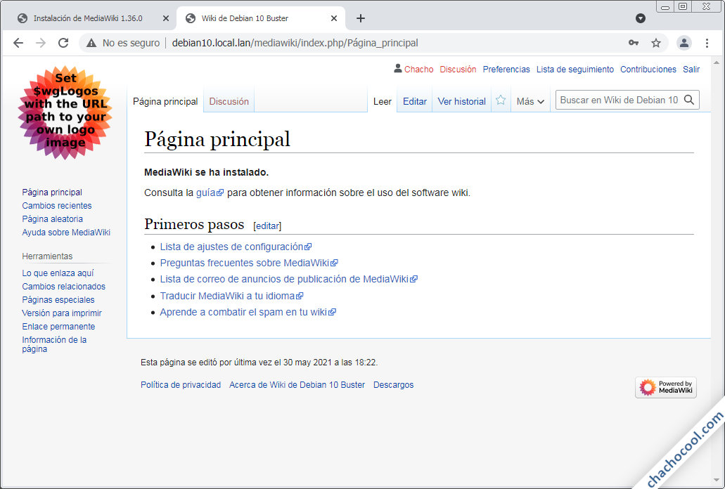 MediaWiki para Debian 10 Buster