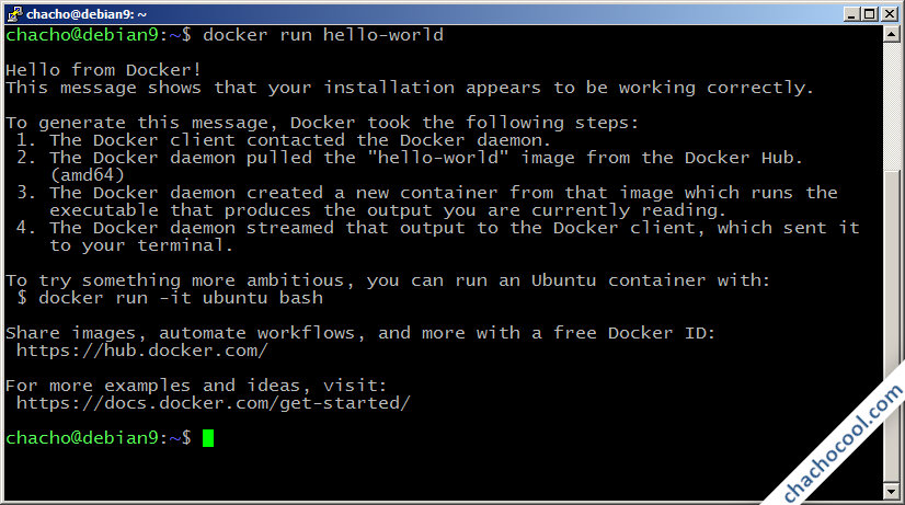 docker en debian 9 stretch
