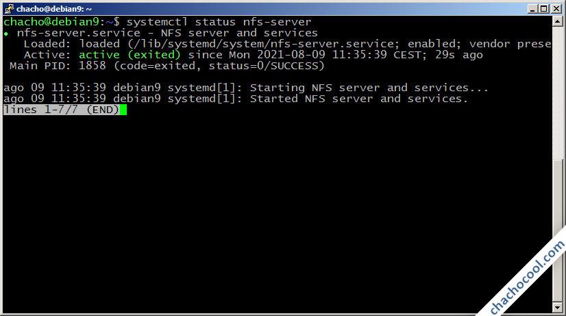 como instalar nfs server en debian 9 stretch