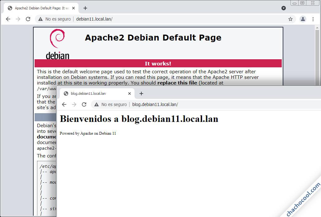 servidores virtuales de apache en debian 11 bullseye