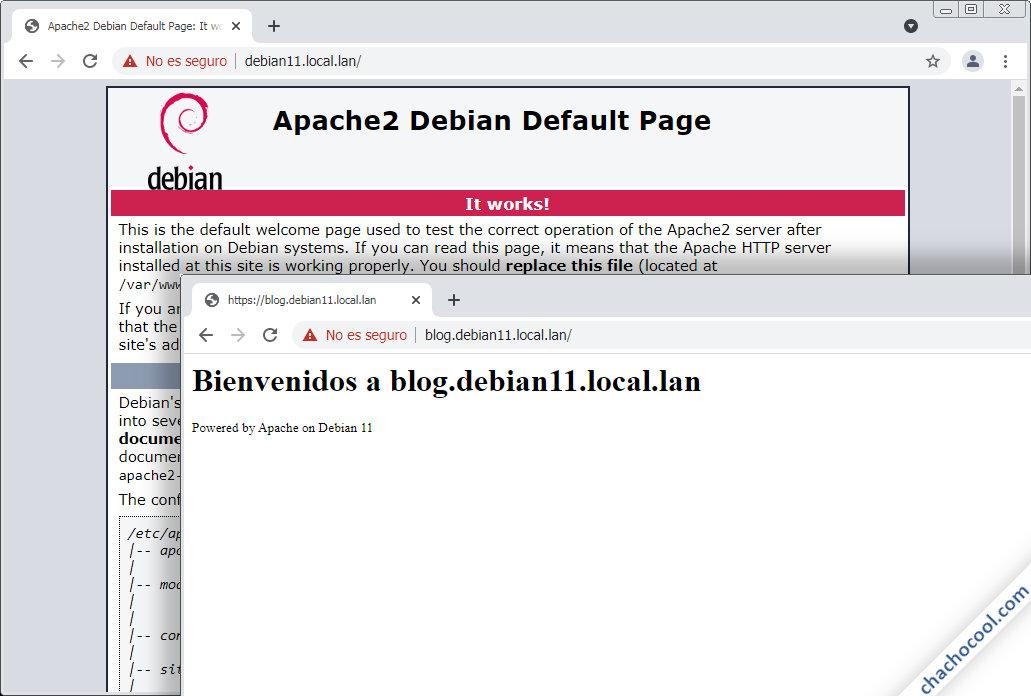 servidores virtuales con https en apache para debian 11