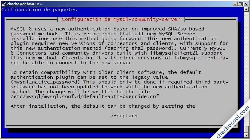 instalacion de mysql server en debian 11 bullseye