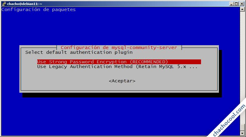 instalador de mysql server para debian 11 bullseye