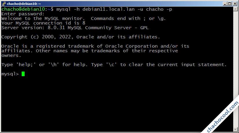 acceso remoto a mysql server en debian 11 bullseye